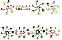 UV BELLY BARS SURGICAL STEEL NAVEL BARS CLEARANCE BODY JEWELLERY