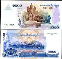 CAMBODIA 1000 1,000 RIEL 2007 P 58 UNC