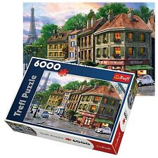 Trefl 6000 Piece Adult Large Paris Streets France Eiffel Tower Jigsaw Puzzle NEW