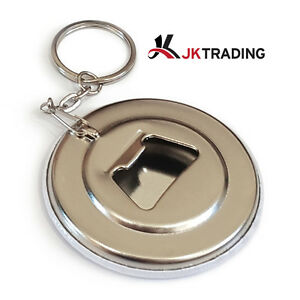 100 Pieces of 44mm Bottle Opener Keychain Supplies for Badge Maker Button Maker