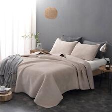 3 Pieces All Season Flush Flannel Blanket Poly-Velvet Quilt Bedding Coverlet Set