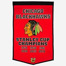 CHICAGO BLACKHAWKS DYNASTY BANNER w/ 2015