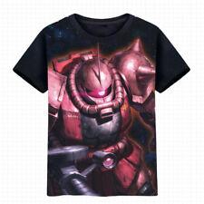 Anime Gundam Zaku T-shirt Short Sleeve Unisex Black TEE Cosplay S-3XL#NM378