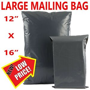 "12 x 16"" Grey Mailing Bags Strong Parcel Postage Plastic Post Poly Self Seal"