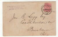 Australia British America Co. 1909 postcard arrival advice of cart springs