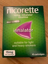 Nicorette Inhalator 15mg 4 Cartridges  BNIB UK SELLER