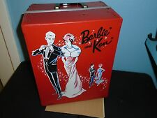 BARBIE & KEN Vintage 2 Doll Fashion Wardrobe Carry Storage Case PONYTAIL 1963