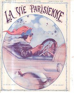 1916 La Vie Parisienne Original French automobile art cover only by Fontan