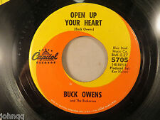 Buck Owens - Open Up Your Heart / No More Me and You, Capitol 5705 45 RPM Record
