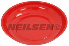 """6"""" -  150 mm Round Magnetic Parts Tool Storage Tray - RED"""