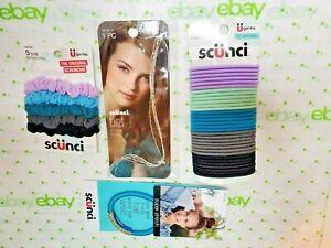 Scunci Scrunchies Elastics & Silver 8 Inch Hot Streaks Clip In Beads Lavenders