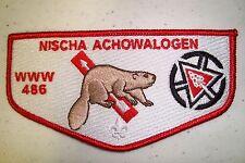 Oa Nischa Achowalogen Lodge 486 Patch Beaver 2015 Noac 100Th Ann Centennial Flap