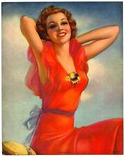 "1930s Summer Days Glamour Girl art deco print 7.75"" x 10"" Ӝ"