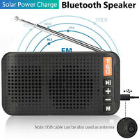 Portable Solar Wireless Speaker Loudspeaker FM Radio for Climbing/Camping/Hiking