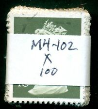 GREAT BRITAIN SG-X955, SCOTT # MH-102 MACHIN USED, 100 STAMPS, GREAT PRICE!
