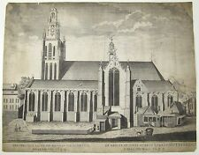 VUE D'OPTIQUE De Groote S Laurentii Roterdami Church Rotterdam Netherlands C1780