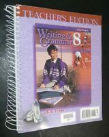 BJU Press Writing & Grammar 8th Grade Second Edition Teacher's Edition Book 2