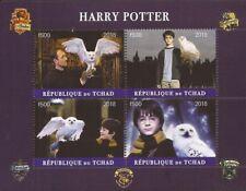 Chad - 2018 Harry Potter Movie - 4 Stamp Sheet - 3B-587