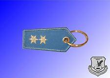 Schlüsselangänger Dienstgradabzeichen Polizei blau gestickt - 2 Stern silber