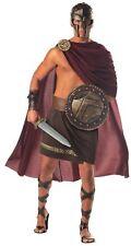 Spartan Warrior Adult Mens Costume Greek Roman Burgundy Cape Halloween