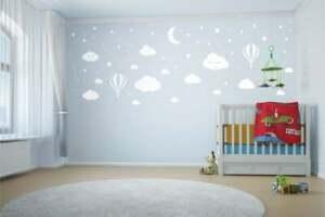 Vinyl Wall Art Stickers Bedroom clouds Home Décor DIY Baby Boy Girls Children