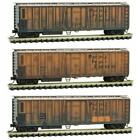 Micro-Trains 99305580 N Weathered 51' Rib Side Mech. Reefer Pacific Fruit 3 Pack