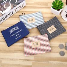 Hot Wallet Unisex Card Key Mini Purse Pouch Canvas Bag Small Zipper Coin Holder
