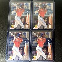 (4) 2020 Topps Chrome Yordan Alvarez Rookie Card Lot (4) - Houston Astros RC!