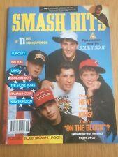 SMASH HITS Nov 89 NKOTB, Soul II Soul, UB40, Bobby Brown, Curiosity VGC Magazine