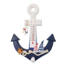 Nautical Anchor Wall Hanging Hook Ship Starfish Mediterranean Thermometer