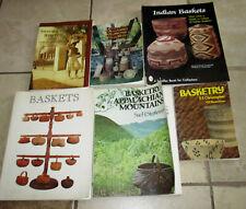 Lot 6 Basket Basketry Books Guides Identification Indian Sweetgrass Appalachian
