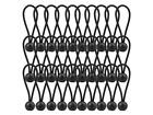 30 Pack Bungee Balls, Taomoder Black Bungee Cord HeavyWeight 4 inches Tarp Bunge
