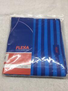 FLEXA BLUE PLAY CURTAIN EXTENSION,, #738064 - BLUE/STRIPES - 2 PC SET! NIB DEAL!