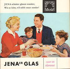 JENAER GLAS (VUUR- EN VLAMVAST) - FOLDER + RECEPTEN (50'jaren)