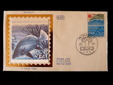 MONACO PREMIER JOUR FDC YVERT  1521      POISSON , EUROPA       3,20F      1986