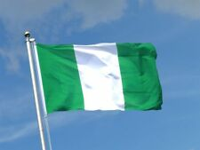 5ft x 3ft Nigeria Country National Flags Indoor Outdoor Polyester with Eyelets