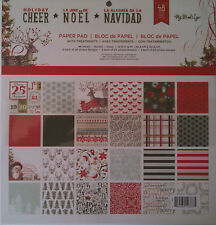 """My Mind's Eye, Holiday Cheer 12x12"""" 48 Sheet Paper Pad    HCGS01"""