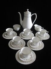 Royal Worcester 'Gold Chantilly' 21 pc Coffee Set Immaculate