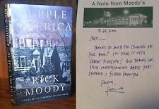 Rick Moody Purple America first edition Association Copy to Max Steele w/ note
