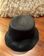 Vintage VTG BETMAR New York CHIC size S/M Black Bucket Roll Up Hat