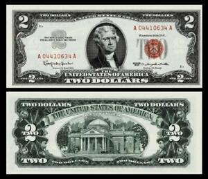 1963 $2 RED SEAL UNITED STATES NOTE ~~BRIGHT & CRISP ~GEM UNCIRCULATED