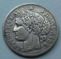 France. 2 Francs 1887 A Paris.