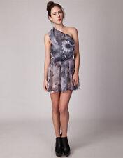 Polyester One Shoulder Hand-wash Only Floral Dresses for Women