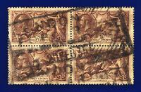 1934 SG450 2s6d Chocolate-Brown N73(1) Block (4) London 20 FEB 35 Cat £160 cejs