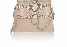 New Chloe Motty Fine-grained Calfskin And Suede Faye Medium Shoulder Bag $2650