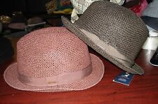 """KANGOL U.S.A """"Natural Straw Player"""" 100% Paper Straw-Large-2 Colors-NWT"""