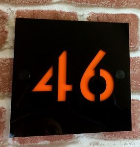 personalised HOUSE NUMBER SIGN plaque | premier quality, only genuine PERSPEX |