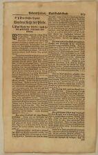 PFERDEKAUF Gesetze Original Textblatt um 1690 Rosstäuscher Pferdehandel Justiz