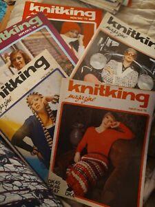 LOT OF 5 KNITKING MAGAZINES 1975  KNITTING VINTAGE vintage knitting