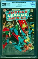 Justice League Of America #74 CBCS VF/NM 9.0 Off White to White DC Comics